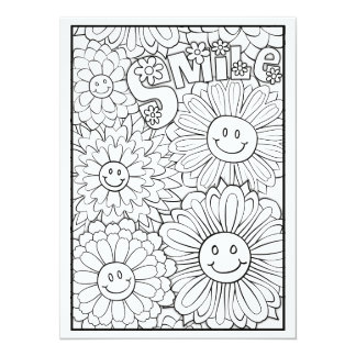Cartão As flores felizes do sorriso dos OrnaMENTALs