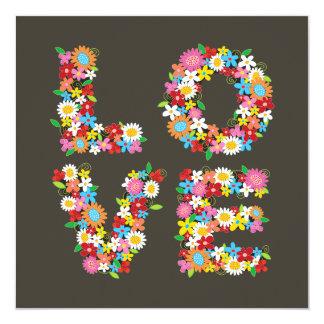 Cartão As flores lunáticas do primavera do AMOR salvar o