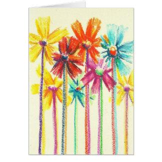 Cartão As flores para você (melhor prêmio de hoje) cardam