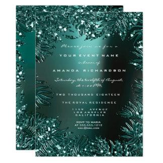 Cartão As folhas da samambaia moldaram formal aquático da
