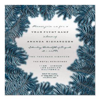 Cartão As folhas da samambaia moldaram formal de prata