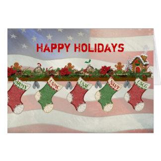 Cartão As forças armadas do Natal envolvem