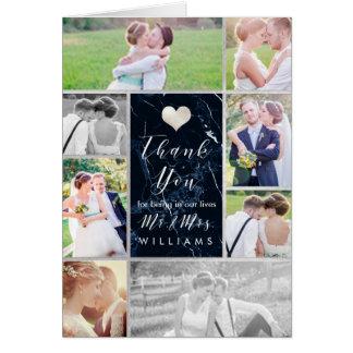 Cartão As fotos do casamento de PixDezines agradecem a