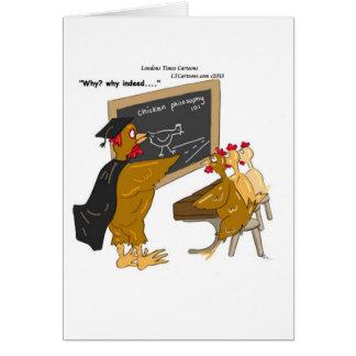 Cartão As galinhas cruzam a filosofia da estrada