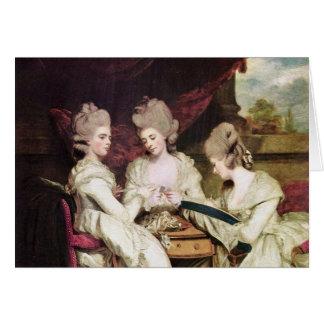 Cartão As irmãs Waldegrave pelo senhor Joshua de Reynolds