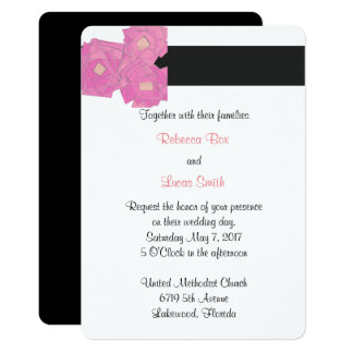 Cartão As listras cor-de-rosa/celebração floral do