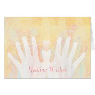 Cartão As mãos & o coração feitos sob encomenda dos
