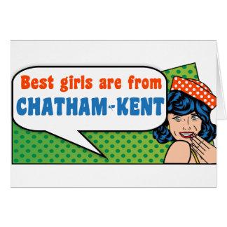 Cartão As melhores meninas são de Chatham-Kent