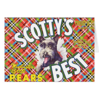 Cartão As melhores peras de Scotts - etiqueta da caixa da