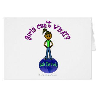 Cartão As meninas escuras ordenam o mundo