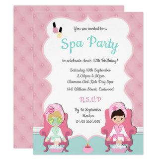 Cartão As meninas que os termas convidam Pamper o partido