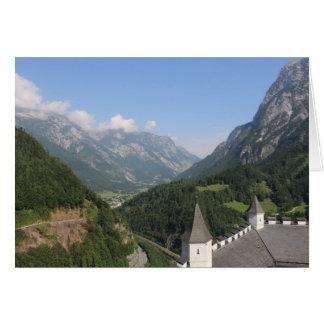 Cartão As montanhas austríacas aproximam Werfen