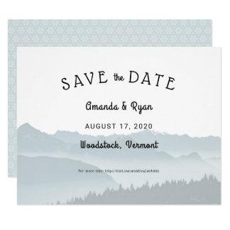 Cartão As montanhas enevoadas salvar o casamento do