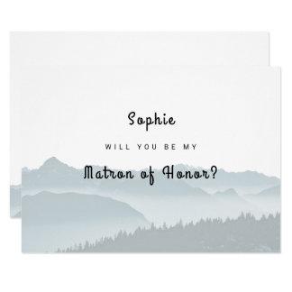 Cartão As montanhas enevoadas sejam minha matrona do
