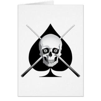 Cartão Ás mortal dos bilhar