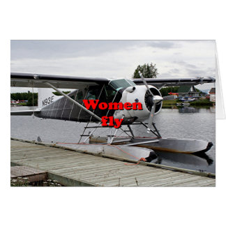 Cartão As mulheres voam: plano 1 do flutuador, Alaska
