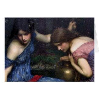 Cartão As ninfas que encontram Orpheus