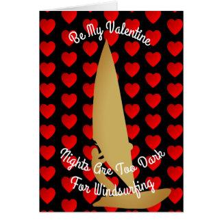 Cartão As noites dos namorados são demasiado escuras para
