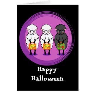 Cartão As ovelhas negras o Dia das Bruxas