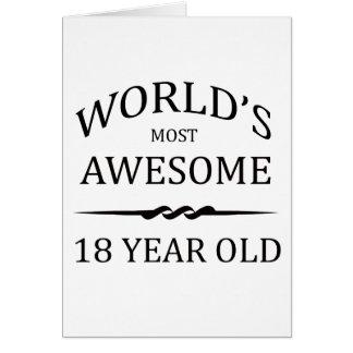 Cartão As pessoas de 18 anos as mais impressionantes do
