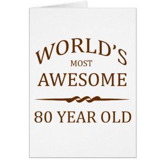 Cartão As pessoas de 80 anos as mais impressionantes do