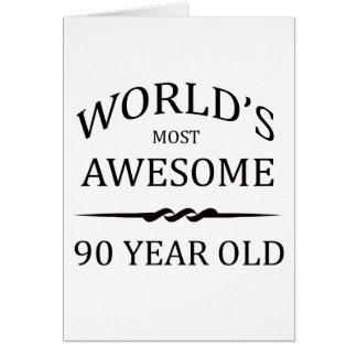 Cartão As pessoas de 90 anos as mais impressionantes do