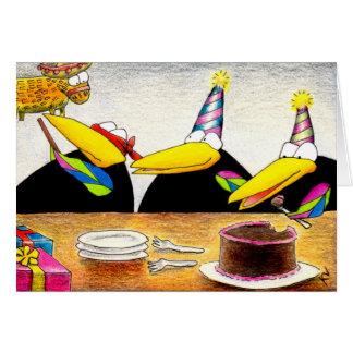 Cartão As pontas da caloria para o aniversário cantam