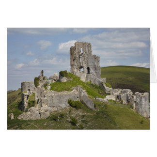 Cartão As ruínas de Corfe fortificam, perto de Wareham,