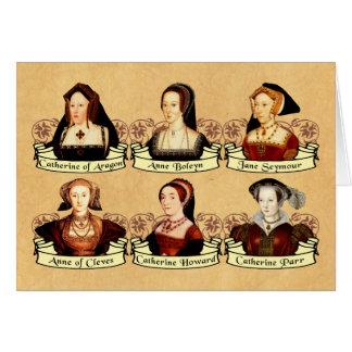 Cartão As seis esposas do clássico de Henry VIII