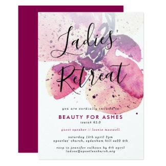 Cartão As senhoras da igreja recuam/convites da