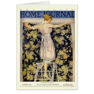 Cartão As senhoras dirigem o cobrir do jornal 1921 por