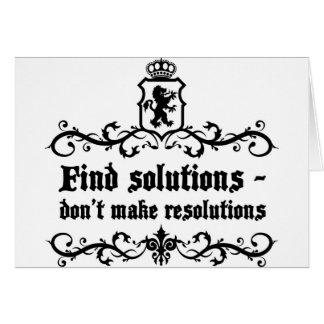 Cartão As soluções Donn't do achado fazem definições