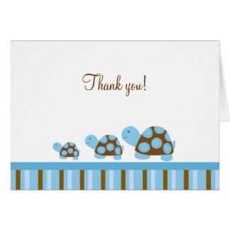 Cartão As tartarugas da modificação (azuis) dobradas