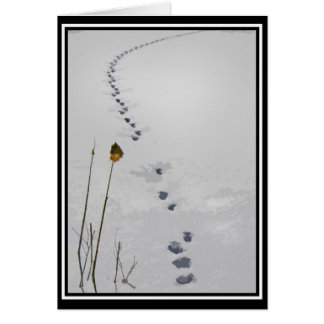 Cartão As trilhas na neve temperam cumprimentos
