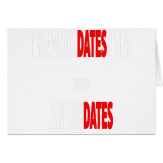 Cartão As únicas datas onde eu obtenho são actualizações