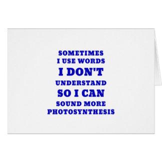 Cartão Às vezes eu uso palavras que eu não compreendo