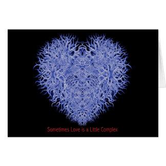 Cartão Às vezes o amor é um pouco complexo