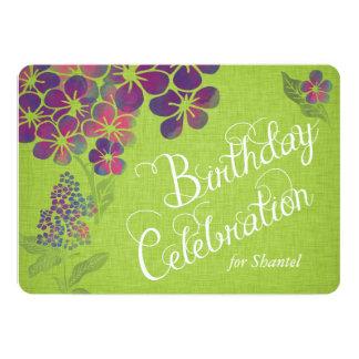 Cartão As violetas no aniversário feito sob encomenda de