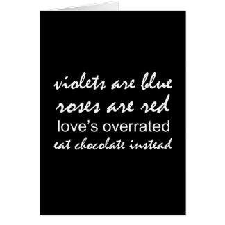 Cartão As violetas são azuis