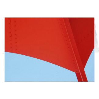 Cartão Asa vermelha