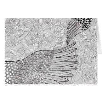 Cartão asas crescentes