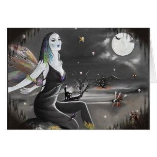 Cartão Asas da noite do Dia das Bruxas (cartão)