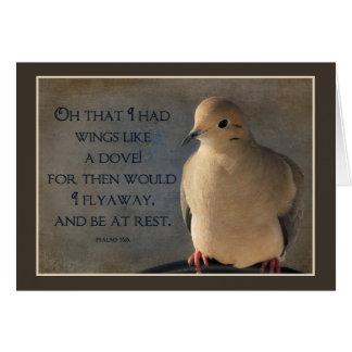 Cartão Asas de um POSTER da pomba
