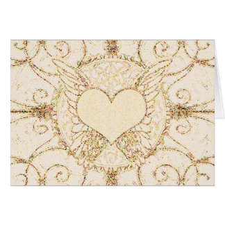 Cartão Asas e coração do anjo