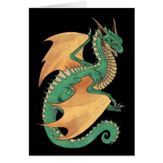 Cartão Asas verdes do pêssego do dragão do wyvern