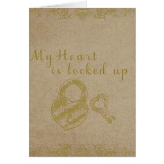 Cartão Ascendente fechado do coração