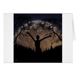 Cartão Ascensão da lua