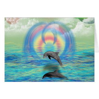 Cartão Ascensão do golfinho