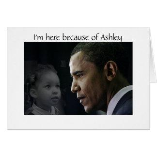 Cartão Ashley de Barack Obama