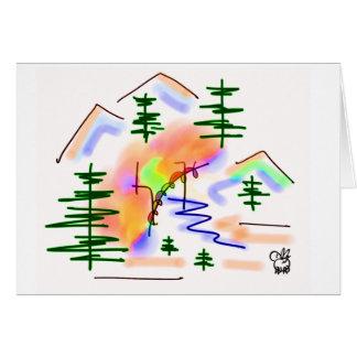 Cartão asno e arco-íris